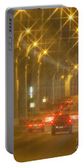 Portable Battery Charger featuring the photograph Overpass Traffic by Linda Phelps