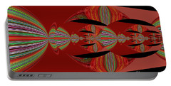 Red Abstract Ovs 26 Portable Battery Charger