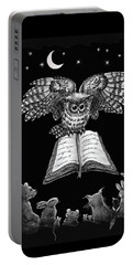 Owl And Friends Blackwhite Portable Battery Charger