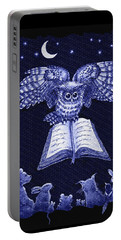 Owl And Friends Indigo Blue Portable Battery Charger