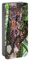 Owl Butterfly On A Tree Portable Battery Charger