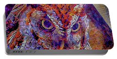 Owl Portable Battery Charger by David Mckinney