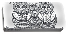 Owl Family Portable Battery Charger