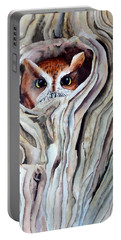Owl Portable Battery Charger by Laurel Best