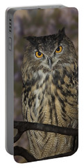 Portable Battery Charger featuring the photograph Owl by Michele A Loftus