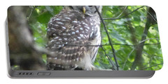 Owl On A Limb Portable Battery Charger by Donald C Morgan