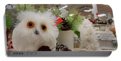 Owl On The Shelf Portable Battery Charger by Betty-Anne McDonald