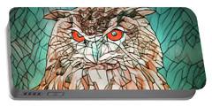 Owl Portrait Portable Battery Charger
