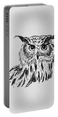 Owl Study 2 Portable Battery Charger