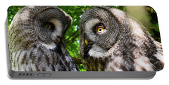 Owl Talk Portable Battery Charger by Rainer Kersten