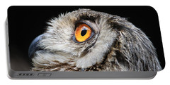 Portable Battery Charger featuring the photograph Owl The Grand-duc by Mary-Lee Sanders