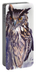 Owl Watercolor Portable Battery Charger
