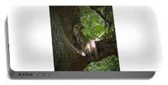 Owl With Leaf Portable Battery Charger