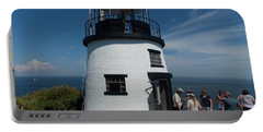 Owls Head Light Portable Battery Charger by Catherine Gagne