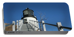 Owls Head Lighthouse Winter Portable Battery Charger