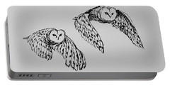 Owls In Flight Portable Battery Charger