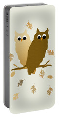 Owls Pattern Art Portable Battery Charger