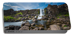 Oxararfoss Waterfall  Portable Battery Charger