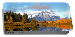 Mt Moran At Oxbow Bend Portable Battery Charger