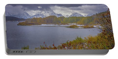 Oxbow Bend Fall Snowfall Portable Battery Charger
