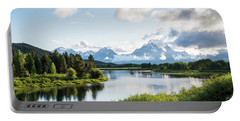 Oxbow Bend In The Grand Teton National Park Portable Battery Charger by Serge Skiba
