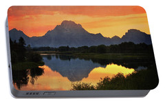 Portable Battery Charger featuring the photograph Oxbow Sunset 13 by Marty Koch
