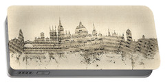 Oxford England Skyline Sheet Music Portable Battery Charger