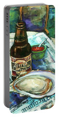 Oyster And Amber Portable Battery Charger