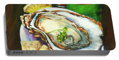 Oyster And Crystal Portable Battery Charger