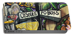 Oyster Poboys Portable Battery Charger