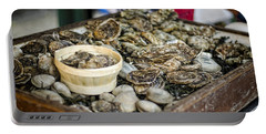 Oysters At The Market Portable Battery Charger