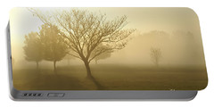 Ozarks Misty Golden Morning Sunrise Portable Battery Charger by Jennifer White