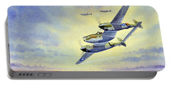 P-38 Lightning Aircraft Portable Battery Charger by Bill Holkham