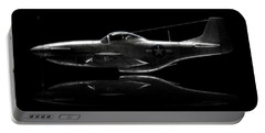 P-51 Mustang Profile Portable Battery Charger by David Collins
