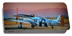 P-51d Mustang 'dakota Kid II. The Long Island Kid' And Casey Odegaard Portable Battery Charger