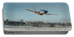 Portable Battery Charger featuring the digital art P51 Mustang - Bodney Blue Noses by Pat Speirs