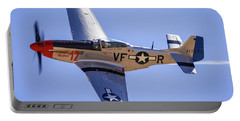 P51d Mustang At Reno Air Races Portable Battery Charger