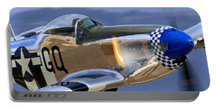 P51d Mustang At Salinas Portable Battery Charger