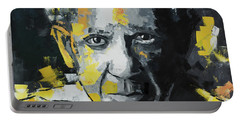 Pablo Picasso Portrait Portable Battery Charger by Richard Day