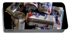 Pabst Blue Ribbon Can Art Portable Battery Charger