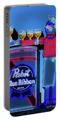 Pabst Blue Ribbon Neon Sign Fremont Street Portable Battery Charger