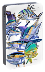 Pacific Gamefish  Portable Battery Charger by Carey Chen