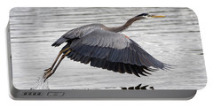 Pacific Great Blue Heron On Lift Off Portable Battery Charger