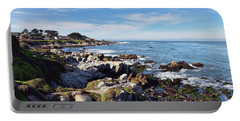 Pacific Grove Shoreline Portable Battery Charger by Gina Savage