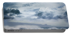 Portable Battery Charger featuring the photograph He Inoa Wehi No Hookipa  Pacific Ocean Stormy Sea by Sharon Mau