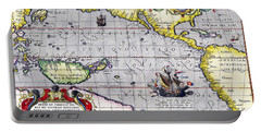 Pacific Ocean Vintage Map Portable Battery Charger