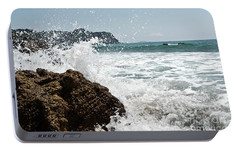 Portable Battery Charger featuring the photograph Pacific Splash by Yurix Sardinelly