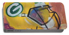 Packer Helmet Portable Battery Charger by Terri Einer