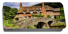 Packhorse Bridge At Allerford, Uk Portable Battery Charger by Chris Smith