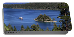 Portable Battery Charger featuring the photograph Paddle Boat Emerald Bay Lake Tahoe California by Steven Frame